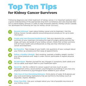 Top 10 Tips for kidney cancer survivors