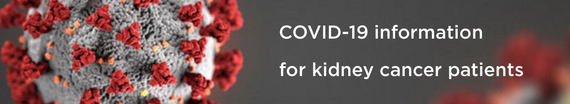 COVID-19 - information for kidney cancer patients