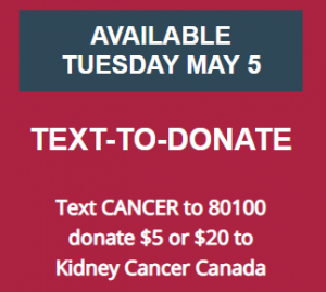 Giving Tuesday - Text to donate to Kidney Cancer Canada