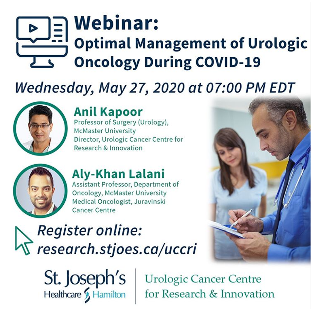 Webinar: optional management of urologic onclogy during COVID-19