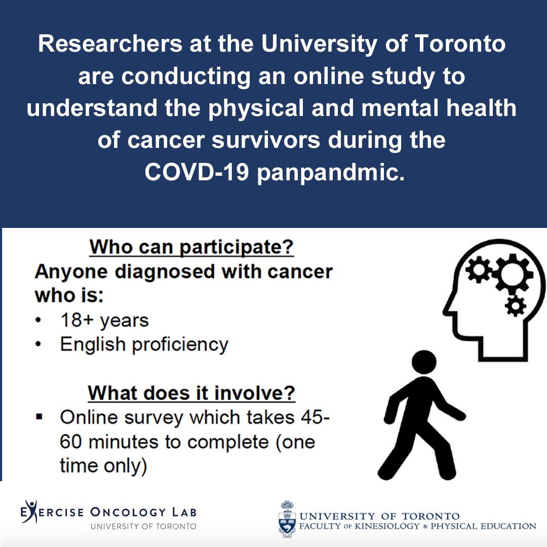 Exercise Oncology Lab, Toronto: Cancer survivors needed for online survey