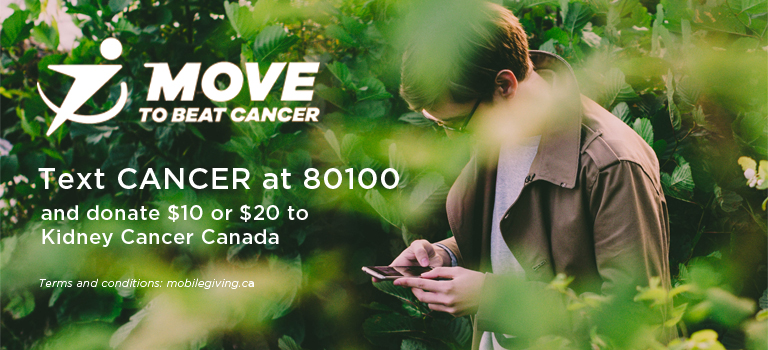 Move to Beat Cancer text to donate
