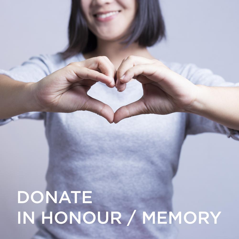 Donate in honour or memory