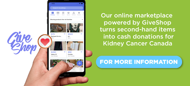 Kidney Cancer Canada virtual marketplace with GiveShop